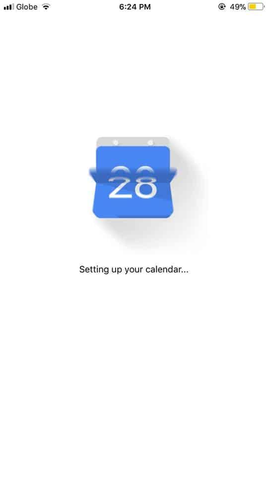 Loading on iOS by Google Calendar