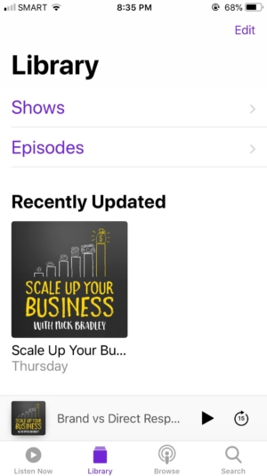 Library on iOS by Apple Podcast from UIGarage