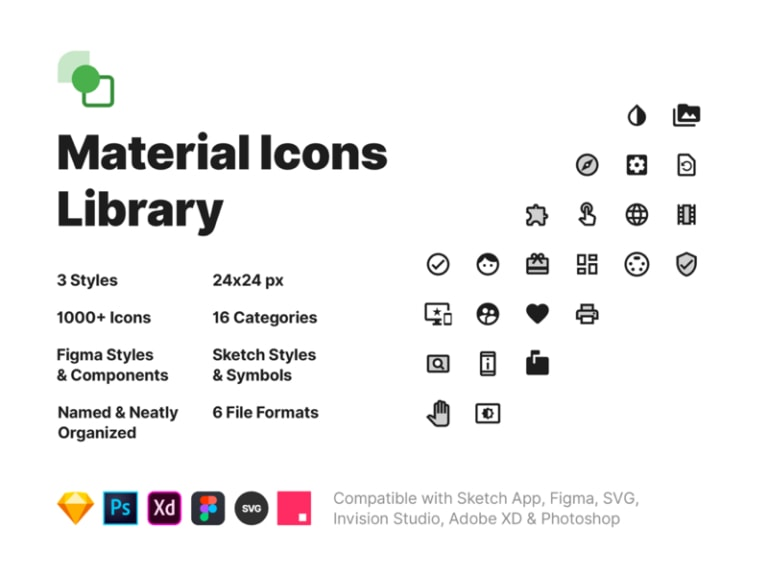 Material Icons Library from UIGarage