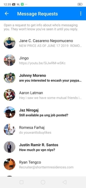 Message Requests on Android by Messenger from UIGarage