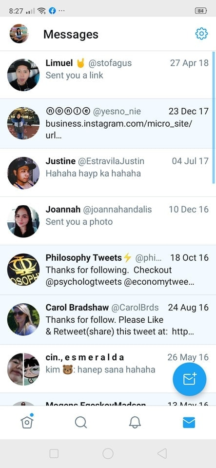 Messages on Android by Twitter