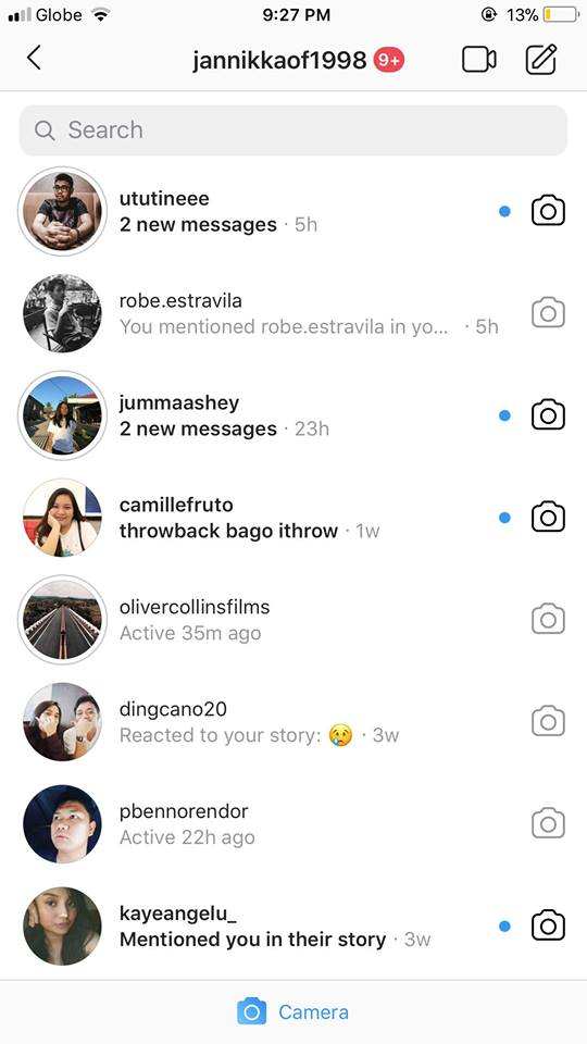Messages on iOS by Instagram 2019