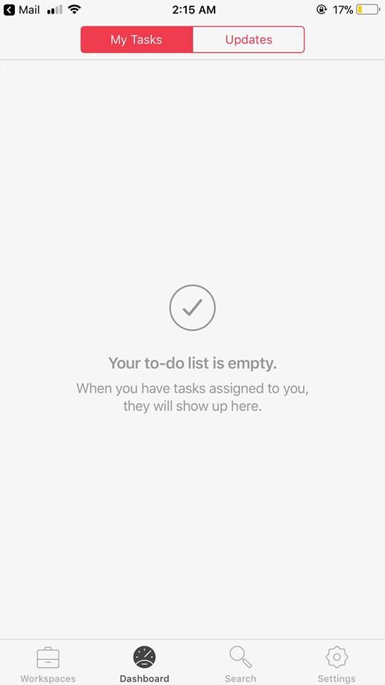 My Tasks on iOS by Redbooth