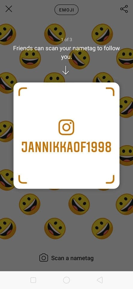 Nametag on Android by Instagram