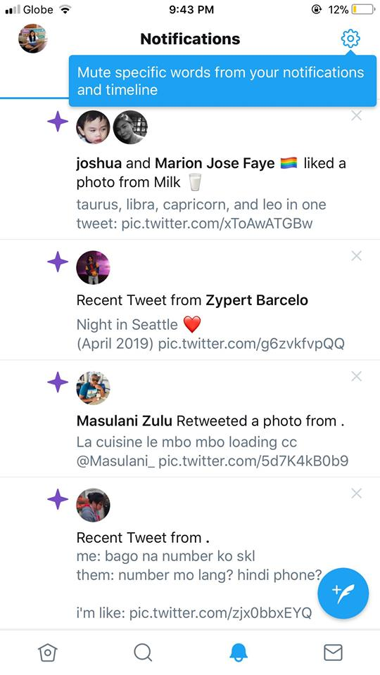 Notifications on iOS by Twitter 2019