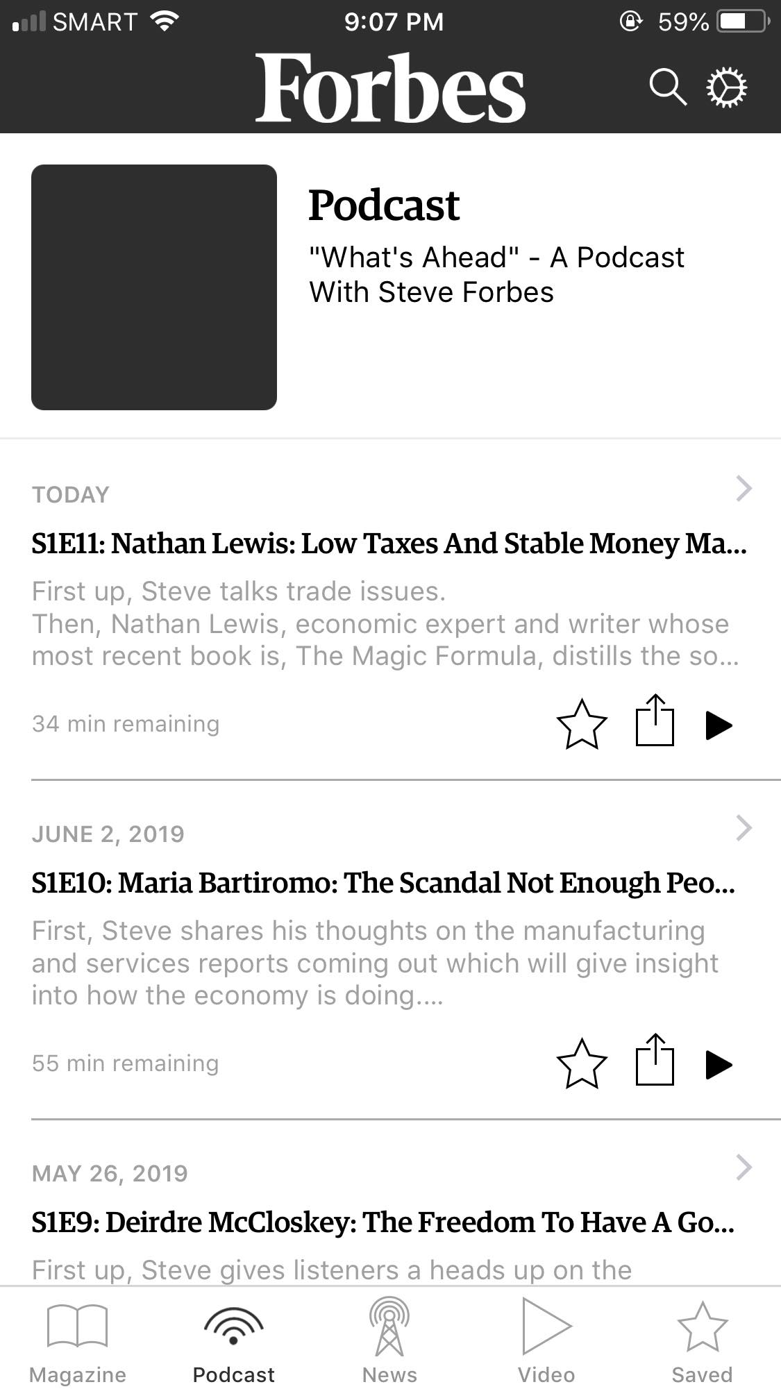 Podcast on iOS by Forbes
