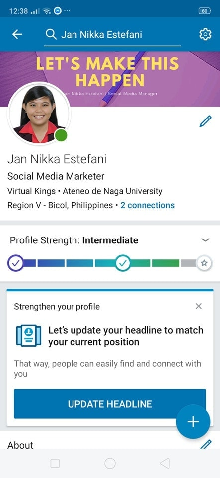 Profile  on Android by Linked In