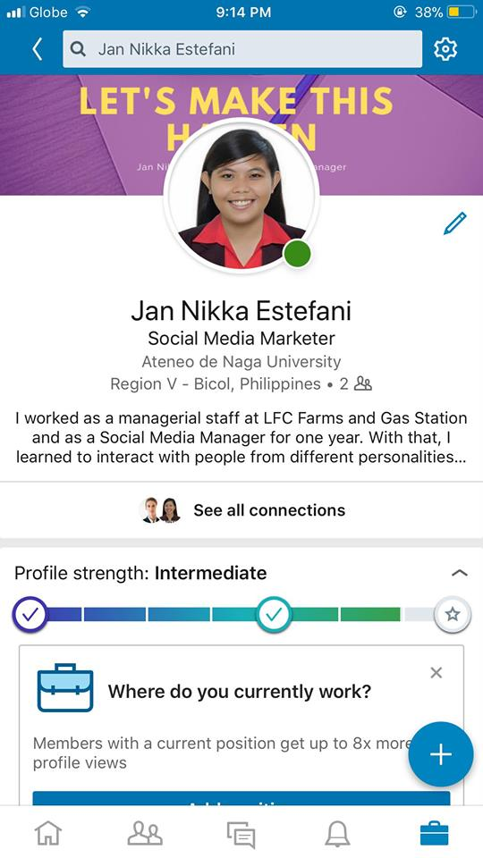 Profile on iOS by LinkedIn from UIGarage