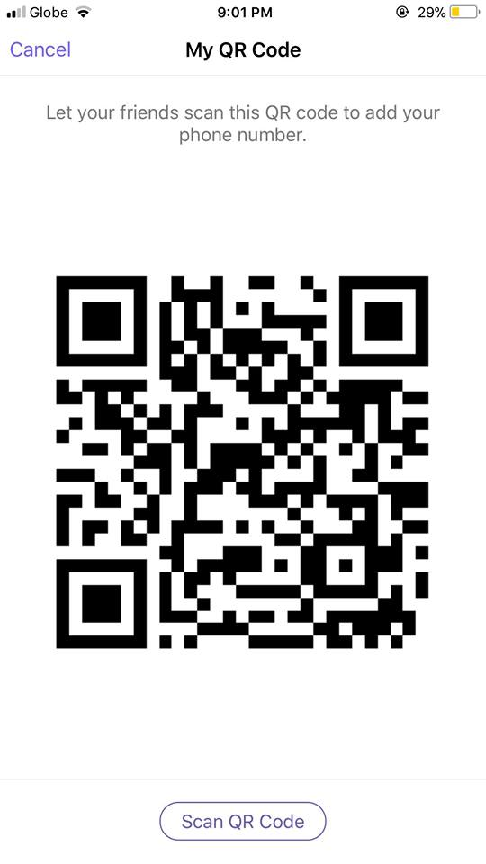 Scan QR Code on iOS by Viber