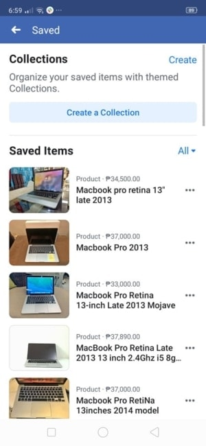 Saved Items on Android by Facebook from UIGarage