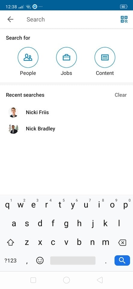 Search on Android by Linked In