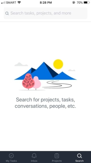Search on iOS by Asana from UIGarage