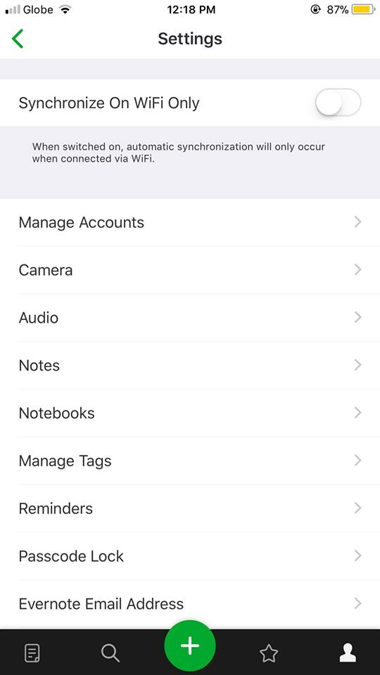 Settings on iOS by Evernote from UIGarage