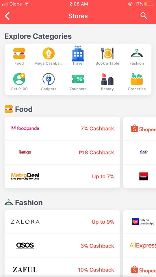 Stores on iOS by Shopback