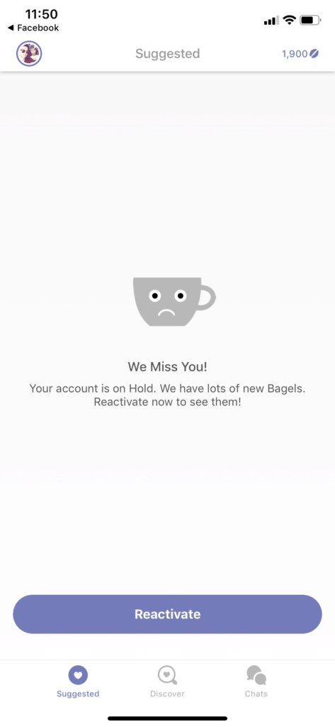 Suggested Page on iOS by Coffee Meets Bagel iOS Placeholder  - UI Garage - The database of UI