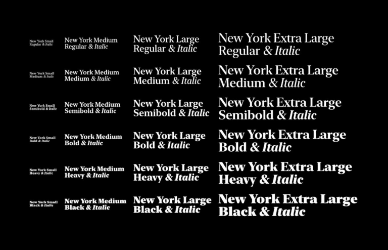 """Apple's New Free Serif font """"New York"""" is available from UIGarage"""