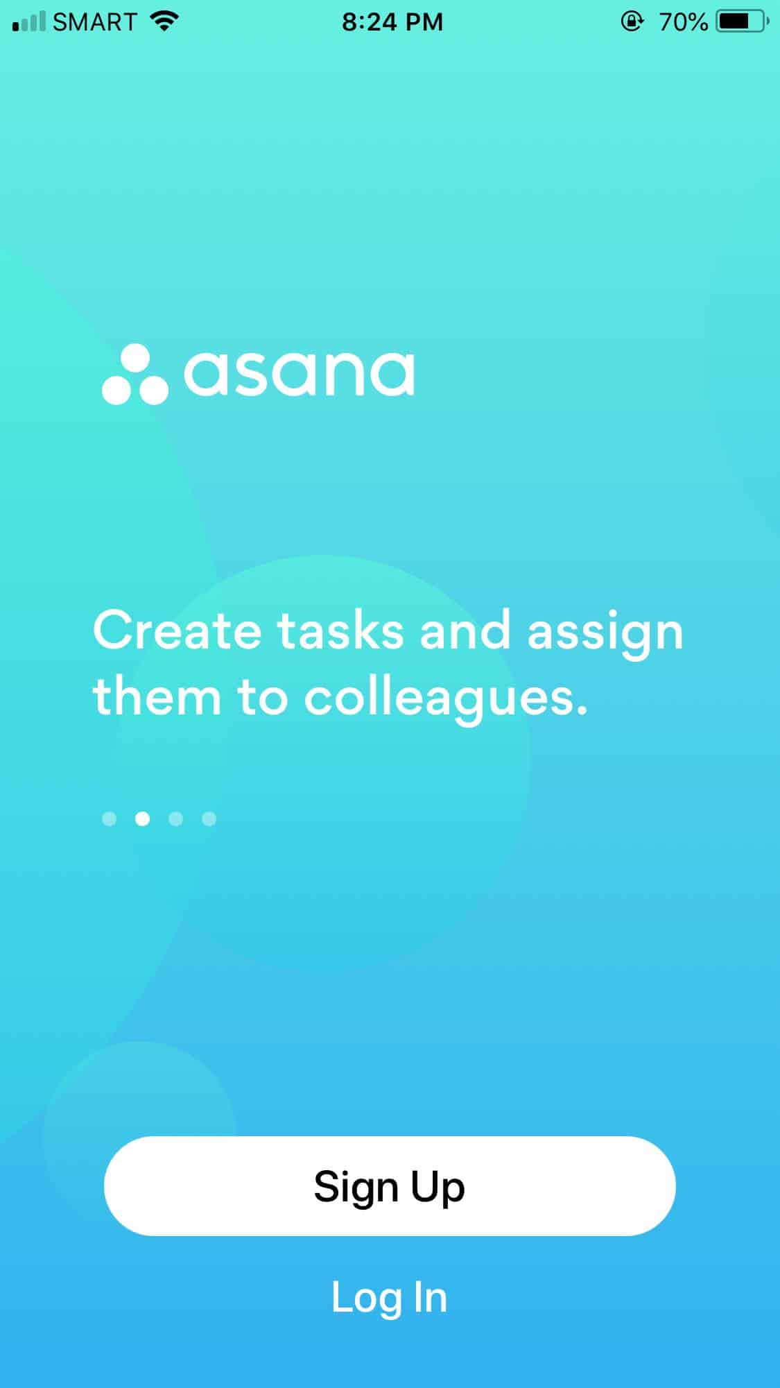 Walkthrough on iOS by Asana from UIGarage