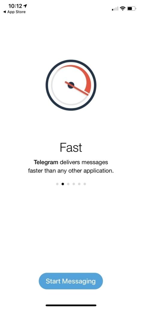 Walkthrough Process on iOS by Telegram from UIGarage