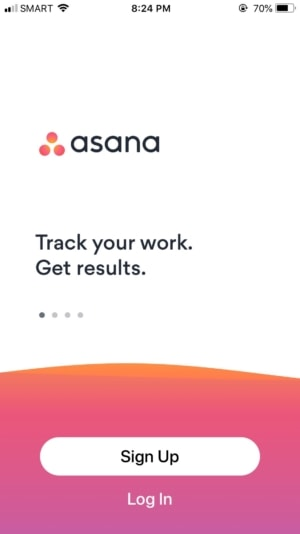 Walkthrough on iOS by Asana from UIGarage