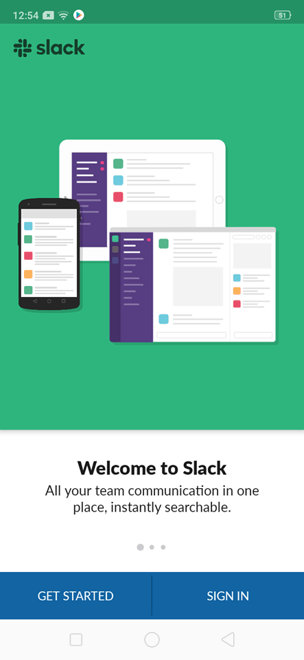 Walkthrough on Android by Slack