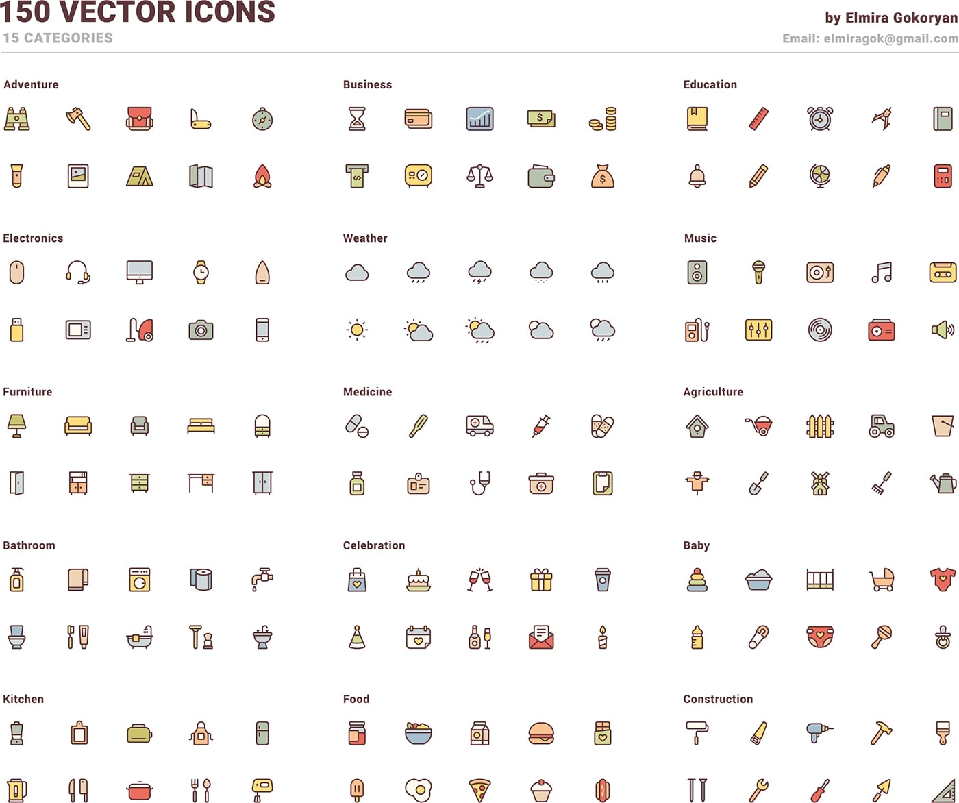 150 Free Vector Icons from UIGarage