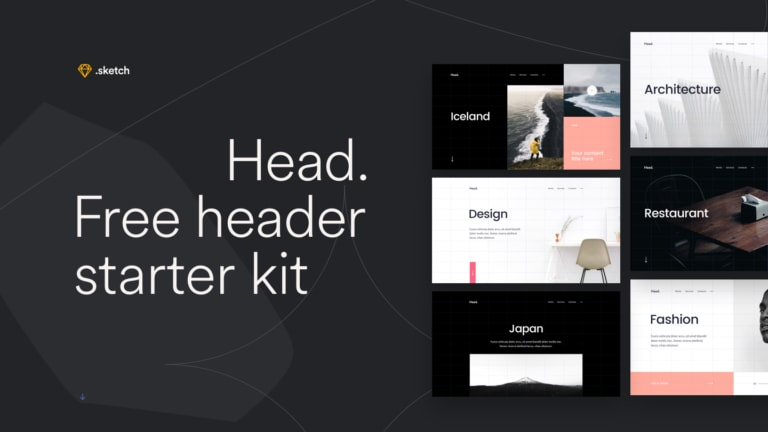 Head: Free Sketch Header Starter Kit from UIGarage