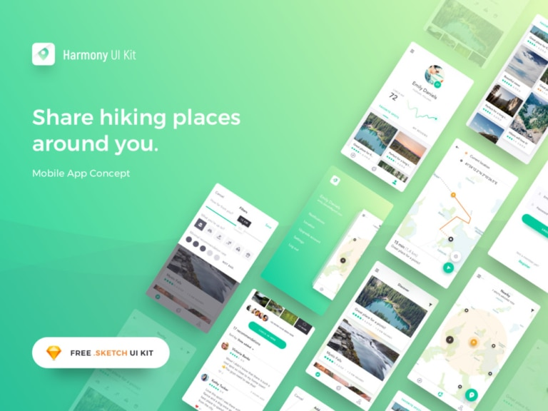 Harmony UI Kit for Sketch from UIGarage