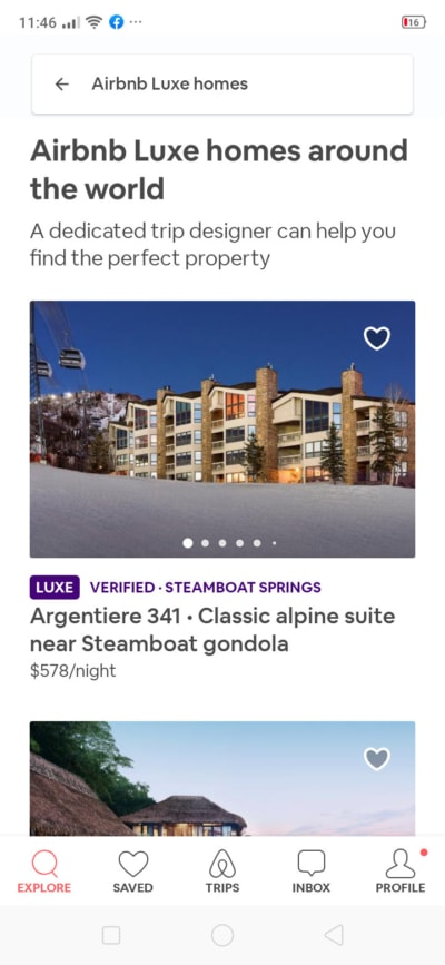 Luxe Homes on Android by Airbnb from UIGarage