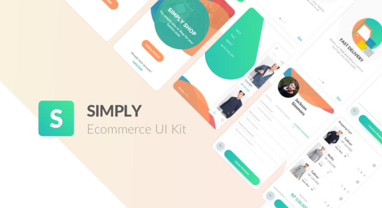 Simply eCommerce UI Kit from UIGarage