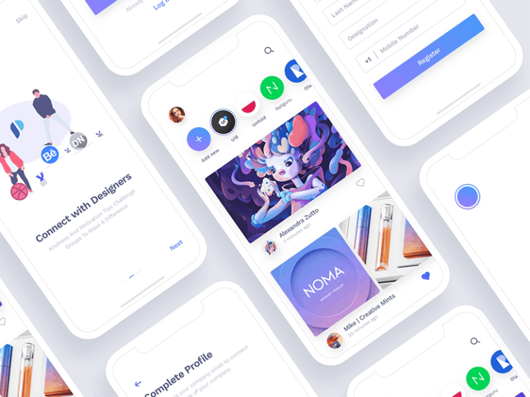 Social App for Designers from UIGarage
