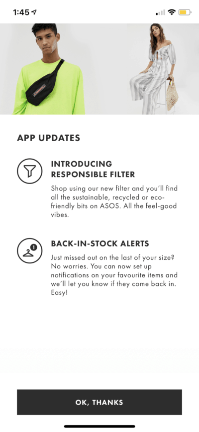 What's new by ASOS on iOS from UIGarage