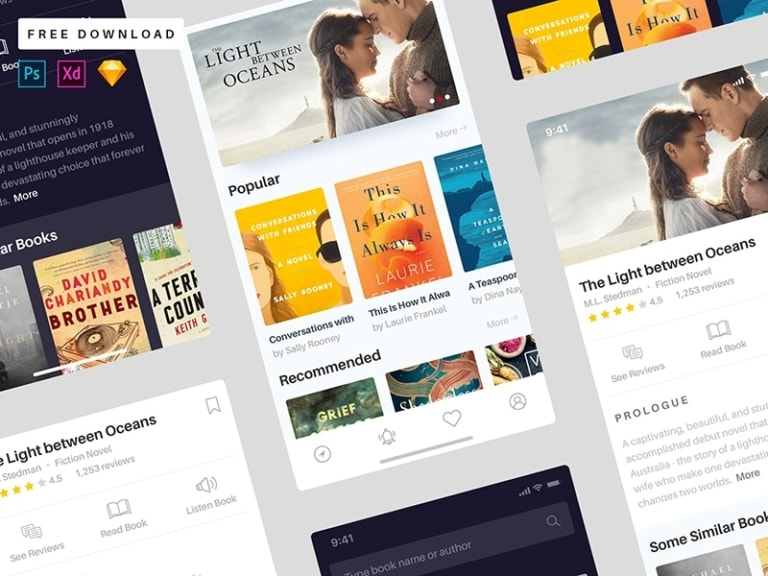 Book App Concept from UIGarage