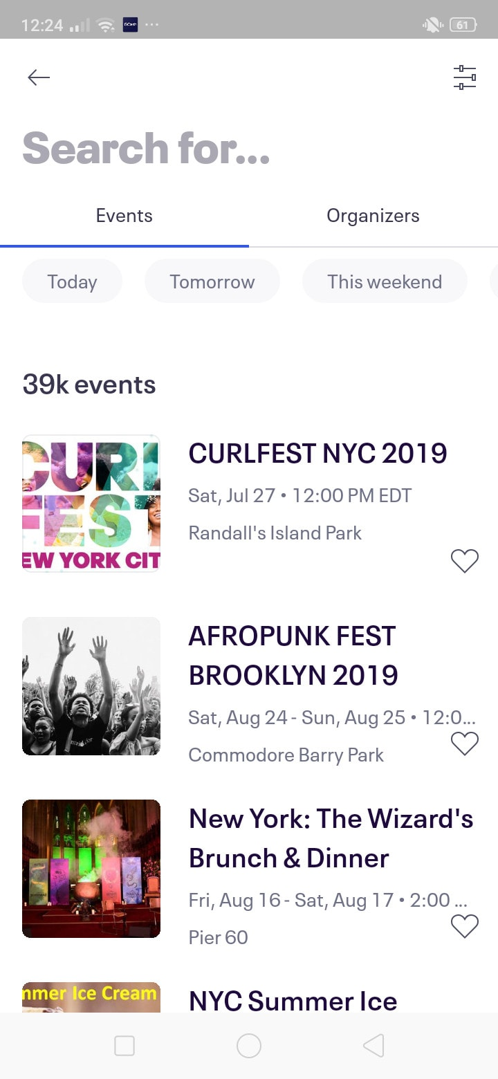 Search for Events on Android by EventBrite