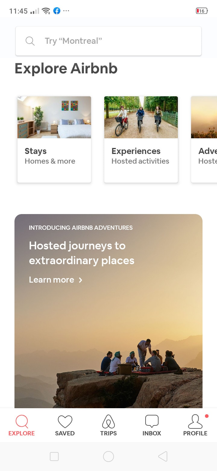 Inspiration Explore on Android by Airbnb - UI Garage