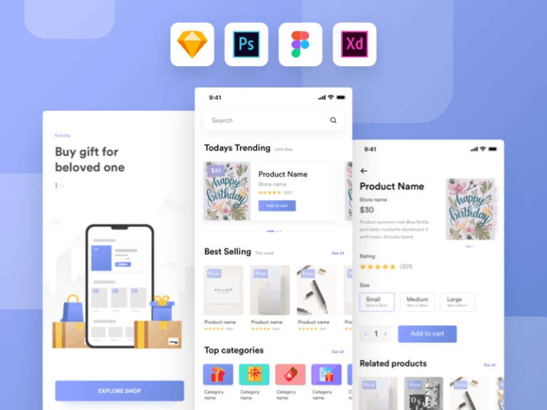 Kamartaj Gift Shop UI Kit from UIGarage