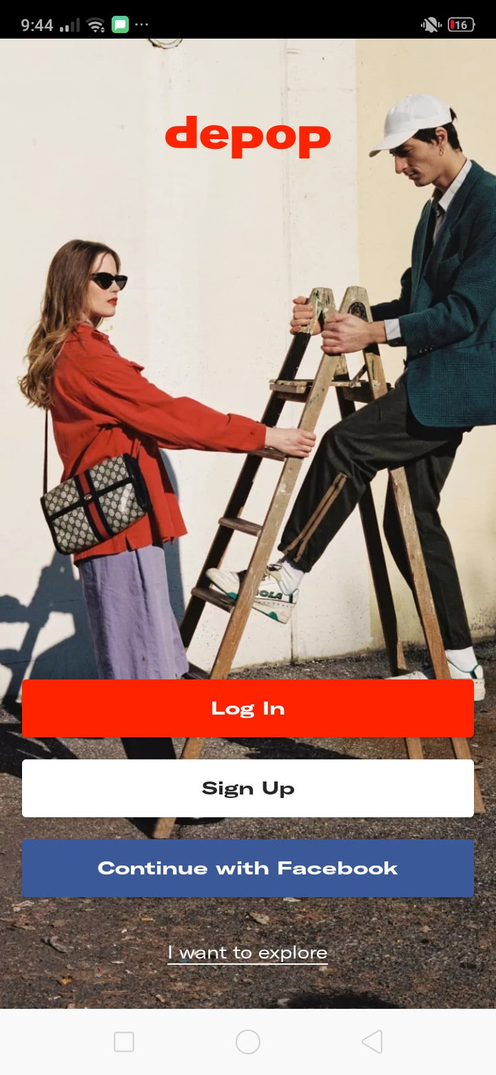 Launch Screen on Android by Depop