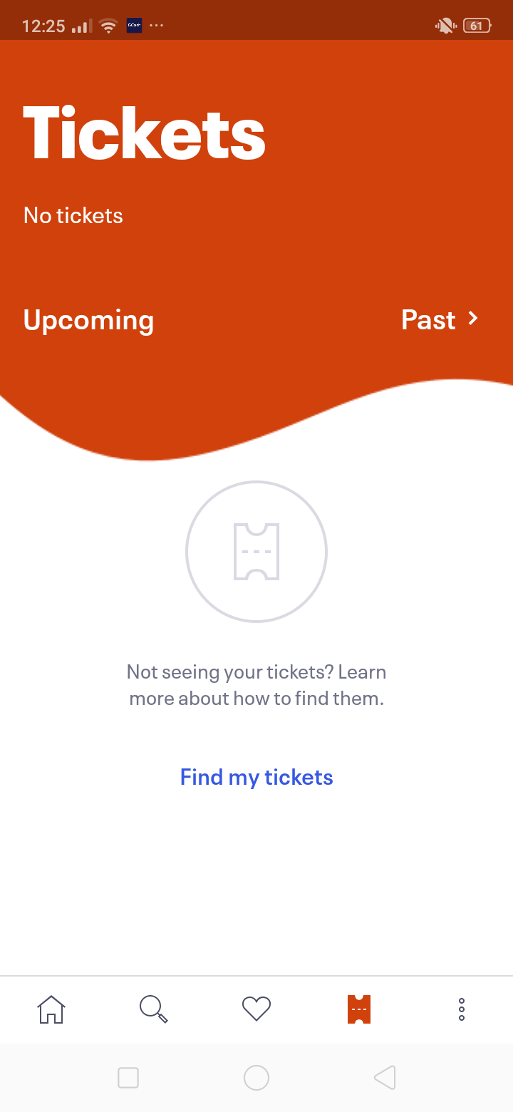 Tickets on Android by EventBrite